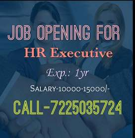 Urgent Requirement For HR Executive
