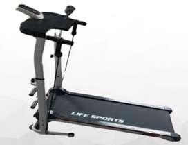 Treadmill manual 4 in 1 lifesport alat olahraga lari
