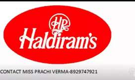 Require candidates in haldiram company, contact  details-89,29747921