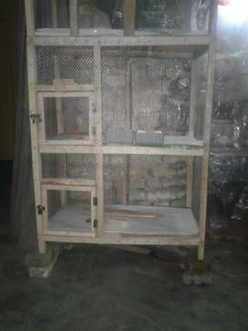 3 store cage wood