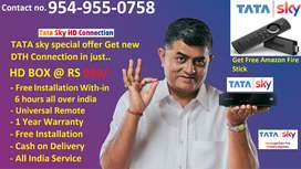 AIRTEL BUY NEW DTH SETTOP CONNECTION DISCOUNT LOWEST OFFER TATASKY D2H