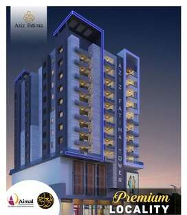 Aziz Fatima Tower 10% booking easy Installment plan beside  Dil pasand