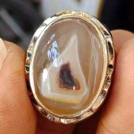 Natural Batu Cincin Gambar Bawang Putih Antik