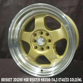 RISKET JD5290 HSR R15X7/8 H8X100-114,3 ET40/33 GOLD/ML