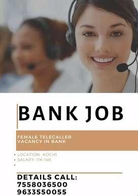 Telecaller vacancy in bank