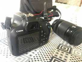 canon 1200D 18-55 lens 55-200 lens with camera beg