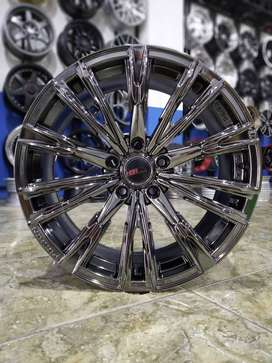 jual velg SENORITA PS6 HSR R18X8 H5X114,3 ET45 BLACK CHROME