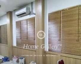 Krey kayu/pvc/kain/alumunium model blinds custom