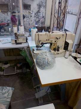 Kaaj and overlock and peeko machine for sale