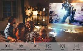 150 inch LED HD WiFi Projector Watch TV Movie On Big Screen Mobile