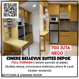 Apartement cinere bellevue suites 2 bedroom full Furnish MURAH