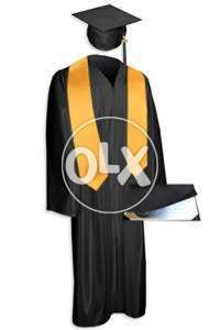 Kids gown with cap