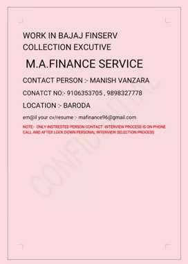 Agency Fild collection excutive in baroda bajaj finserv