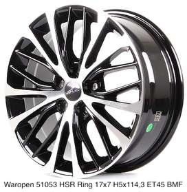 jual velg hsr type waropen ring 17 for CRV