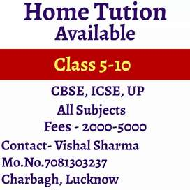 Home Tution available for class 1-10
