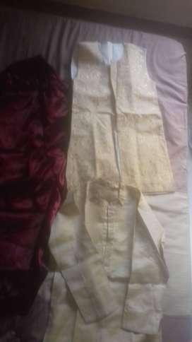 Cream Kurta Set for 11+ years- 500 Rs