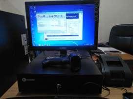 Komputer PC branded fullset Lengkap dengan software IPOS siap pakai OK