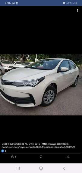 now Available toyota corolla xli 2019 on esay installement