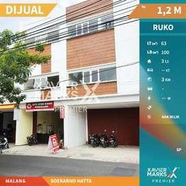 Ruko daerah Raya Bukit Sari depan Papa Putih Sukarno Hatta