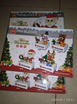 Mini Block Natal/ Christmas kondisi baru ada 5 kotak