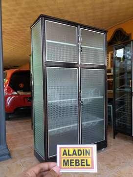 Rak piring 4 pintu roda ready Aladin Sidoarjo Tarik 2909