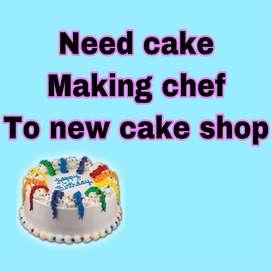 Cake making person
