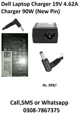 Dell Laptop Charger 19V 4.62A Charger 90W (New Pin) Delivery Available
