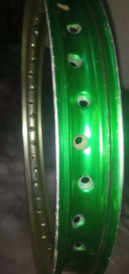 Honda 70cc back wheel Rims color Green Original Aluminum Rim 0
