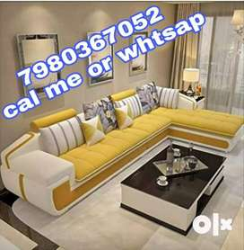 Brand new 6 seater L shape in yellow and white color