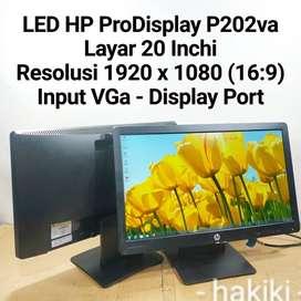 LCD/LED monitor  HP ProDisplay P202va Layar 20 Inchi Wide