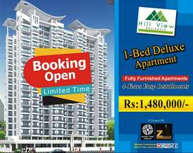 600 Sq Ft 1 Bed Fully Furnished Apartment in Hill View Residency