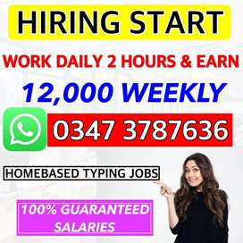 Male, Female, Students, and All Jobseekers Type & Earn Now - HomeBased