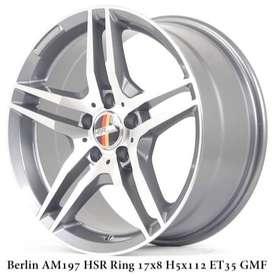 velg mobil mercy,innova type->BERLIN HSR R17X8 H5X112 ET35 GMF