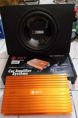 Paket power 4ch & subwoofer 12'