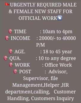 Vacancy open require new staff