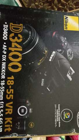 Nikon D3400 with 18/55 lens Like New With Box