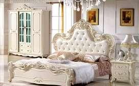 Set kamar tidur, nakas, alamari, kayu jati, free ongkir