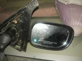 Indica car side mirror and carrier