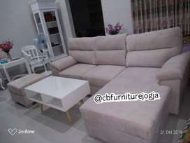 Sofa  L  sambung Model custom design Satu set ,.