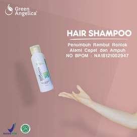 Shampo Rambut Rontok Ketombe Lepek Cabang BPOM Terbaik Green Angelica