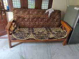 Pure Teak wood Sofa 3+2 excellent condition in Nalgonda