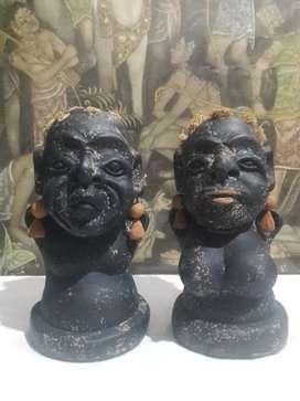 Patung tembikar antik suku aborigin koleksi unik pajangan classic rare