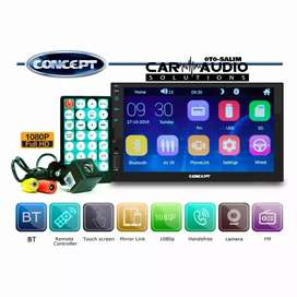 Double Din MP5 Mirrorlink Full Touch Screen plus Kamera Mundur
