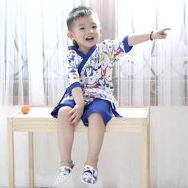 PIYAMA KIMONO KIDS + SANDAL UNISEX (kisaran 3-6th)
