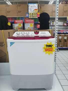 Promo kredit mesin cuci 2 tabung sharp dp mulai 0% hasil langsung