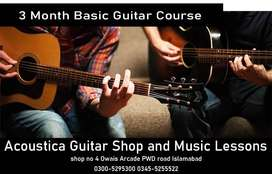 three month Basic Guitar Learning Course