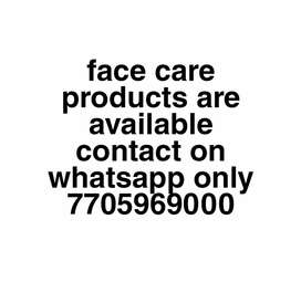Face care products available