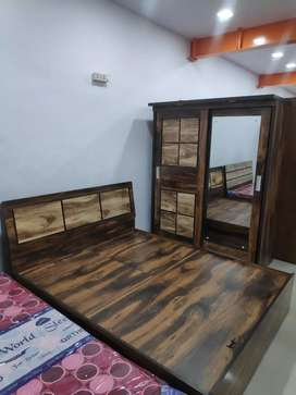 EMI available brand new bed and walldrobe in wholesale price.