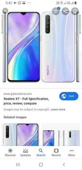 Realme xt  white in color exchange available