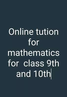 Online tution for mathematics for class 9th and 10th